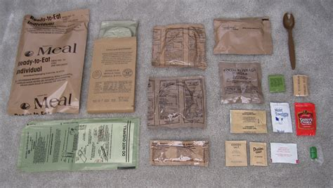 Shelf Of Mres diy survival make mre s meal ready to eat at home