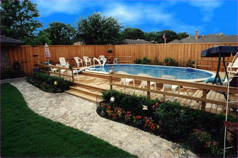 backyard landscaping above ground pool cool above ground pool landscaping successful decision