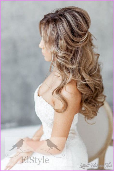 hairstyles for long hair and up bridal hairstyles long hair half up latestfashiontips com