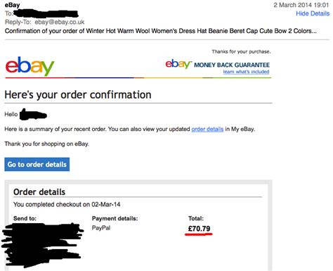 Search Ebay Seller By Email Got Order Confirmation Email But Seller Hasn T Rec