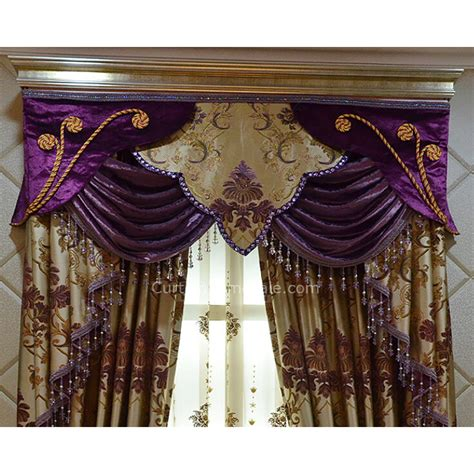 purple and gold curtains purple and gold polyester victorian living room curtain