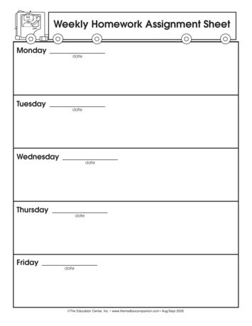 weekly homework template homework weekly template