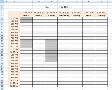 best photos of 7 day work schedule template free weekly