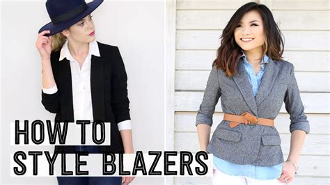 How To Be A Wardrobe Stylist by How To Style A Blazer How To Wear A Blazer 4 Different