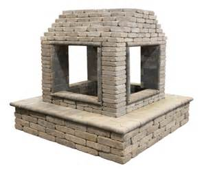 sided outdoor fireplace four sided fireplace