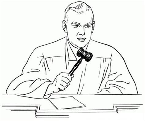 imagenes de justicia social para colorear dibujo de juez dando su veredicto con su martillo de la