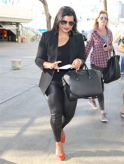 mindy kaling parents the office gallery leather celebrities