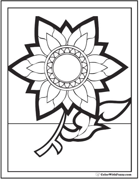 coloring pages of fall flowers flowers coloring page 28 customizable printables