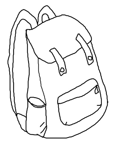 gift bag coloring page backpack printable coloring page back to school
