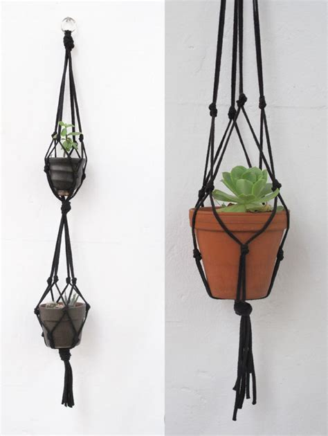 How To Make Plant Hangers With Rope - hanging succulent garden laminx