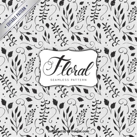 hand painted flower pattern hand painted floral pattern vector free download