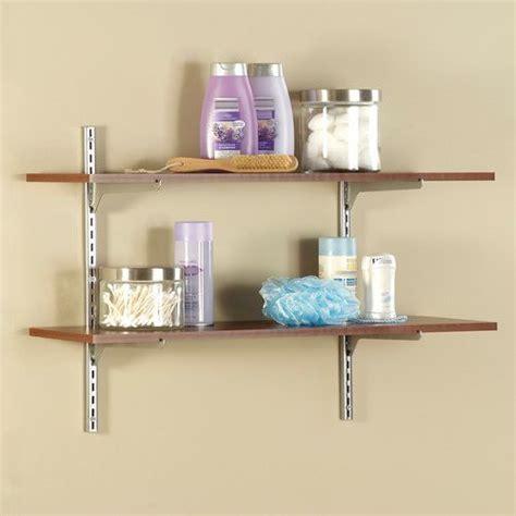 closetmaid 2pc single slot shelf kit alder 818200