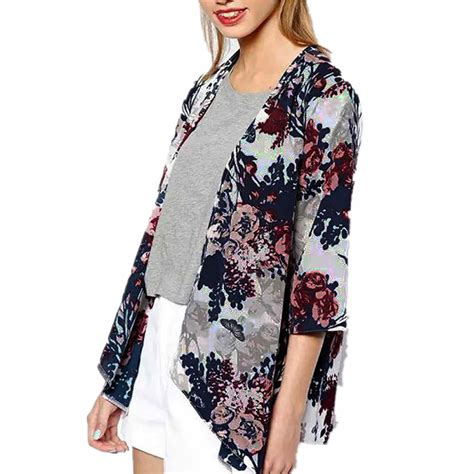 Shirt Tosca Kemeja Wanita Kemeja Wanita Bunga zanzea wanita blus bermotif bunga bunga boho kemeja setengah lengan baju musim panas pantai