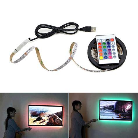 Tv Non Led aliexpress buy 1pcs usb powered 5v rgb led light 60leds m 3528 smd non waterproof