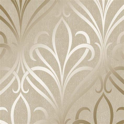 camden damask wallpaper cream gold wallpaper   love