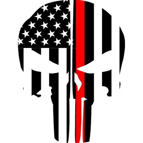Punisher Skull American Flag Decal Thin Line Flag Punisher Skull Reflective Rear Helmet Decal Ems Viny Graphics