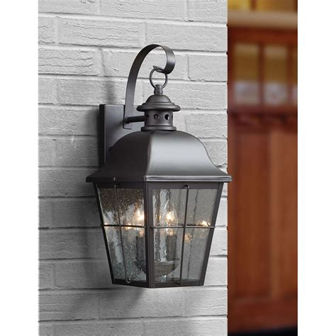 Wall Mounted Lights Outdoor Millhouse Mystic Black Two Light Outdoor Wall Fixture Quoizel Wall Mounted Outdoor