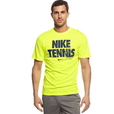 T Shirt Read nike tennis read tshirt in yellow for lyst