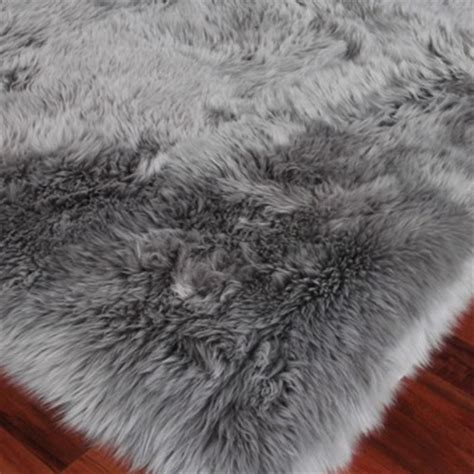 grey fur rug exquisite rugs sheepskin modern classic silver grey fur rug 13 6 quot x 17 6 quot kathy kuo home