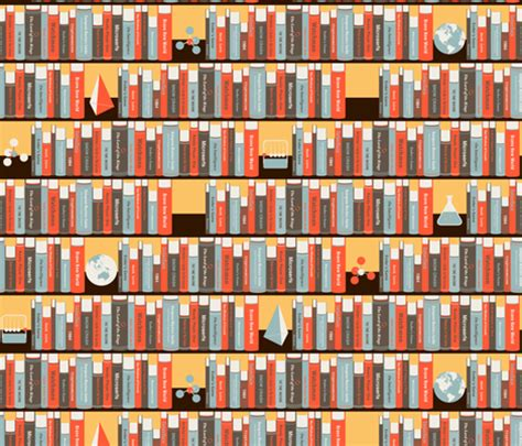 geeky bookshelf fabric zesti spoonflower