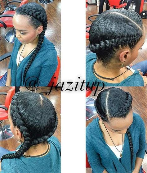 2 big cornrow hairstly 25 best ideas about two cornrow braids on pinterest 2