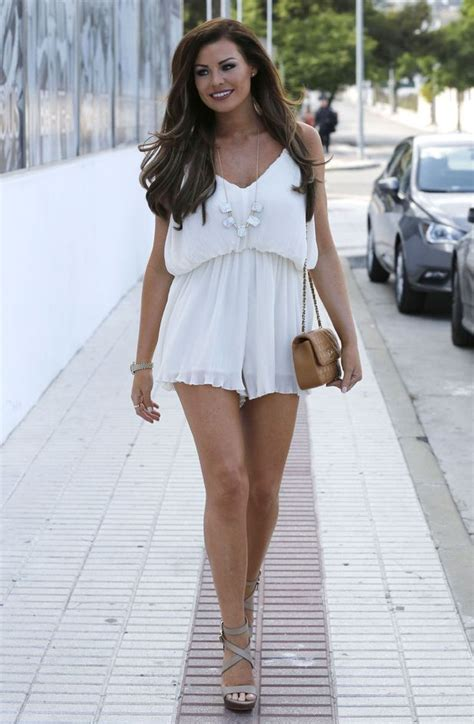 Maxy Dress Marbella Proo1 towie s wright looks gorgeous in white playsuit in marbella news news reveal