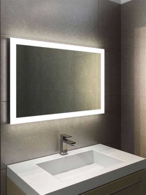 bathroom mirrors with lighting halo wide led light bathroom mirror light mirrors