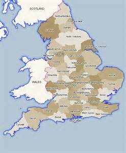 England Map by England Map Counties Ceremonial Counties Of England