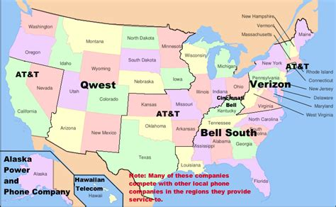 kentucky telephone exchange map list of united states telephone companies