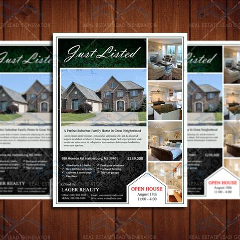 real homes template 17 best images about open house flyer ideas on