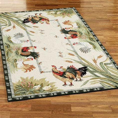 rooster kitchen rug rooster and hens area rugs