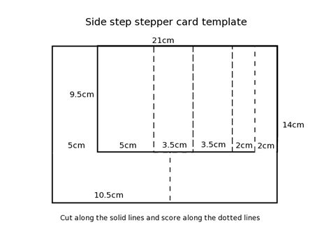 side step card template simply cards papercraft 135 free digi sts paper