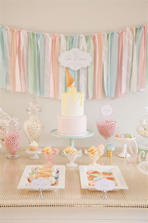 pastel ice cream social birthday via kara s party ideas the place for all things party