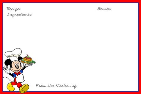 disney card templates 4x6 recipe card template disney recipe cards recipe