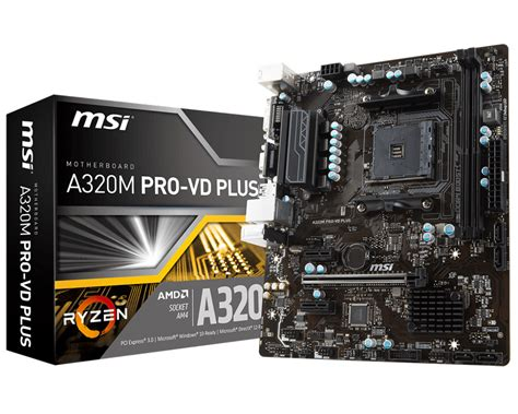 Msi A320m Pro Vd S overview for a320m pro vd plus motherboard the world
