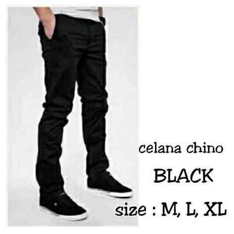 Celana Bahan Hitam jual celana chino hitam picfashion