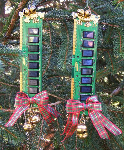 christmas tree recycling issaquah recycled computer memory tree ornaments