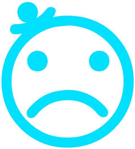 small sad face
