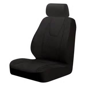 Seat Cover At Walmart Weston Low Back 2pc Seat Cover Black Interior Car