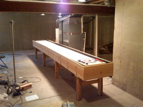 build a shuffleboard table the legs how to build a