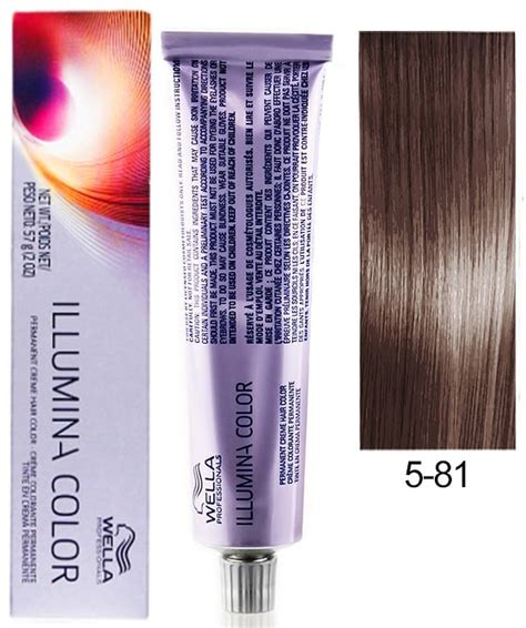 illumina products wella professionals illumina permanent hair color 5 81 light