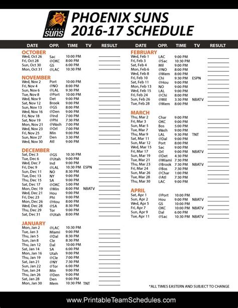 printable suns schedule 17 best images about nba basketball schedule 2017 on