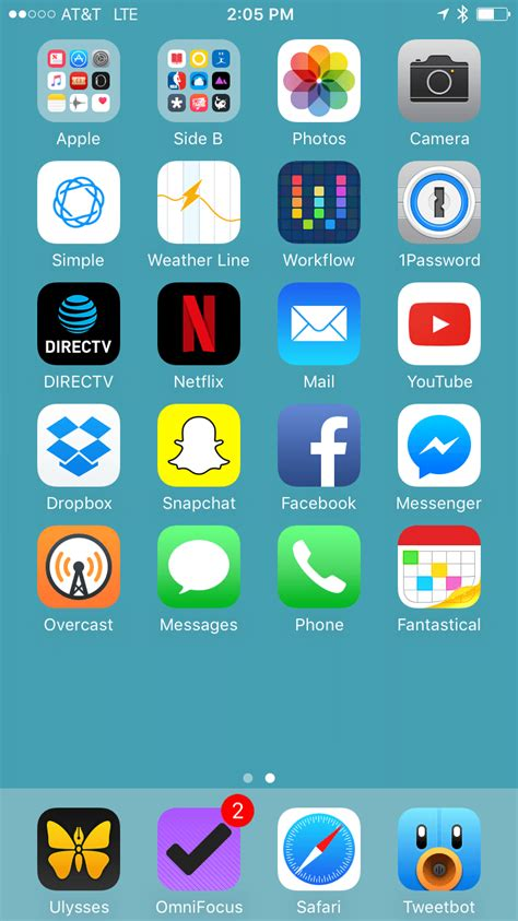 iphone home screen april 2017