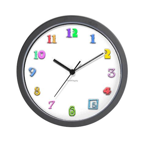 colorful wall clocks colorful numbers wall clock by artegrity