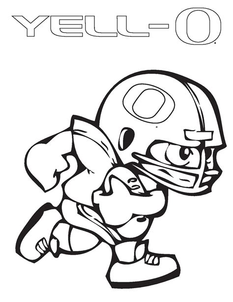 Oregon Duck Coloring Pages oregon ducks football coloring pages