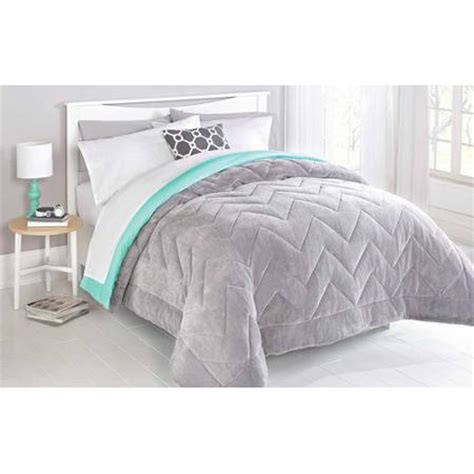 walmart comforters full mainstays reversible plush comforter from walmart