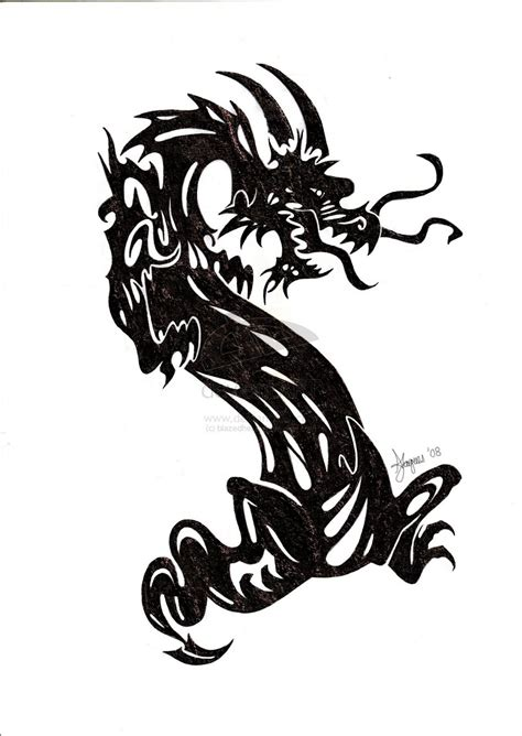 big dragon tattoo designs 13 black tribal designs large black