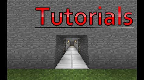 minecraft hidden piston door tutorial youtube