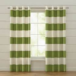 Green Striped Curtains Curtains Drapes And Window Coverings Crate And Barrel