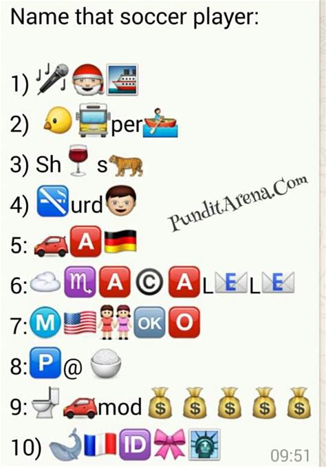 emoji riddles emoji fever can you decipher these whatsapp football